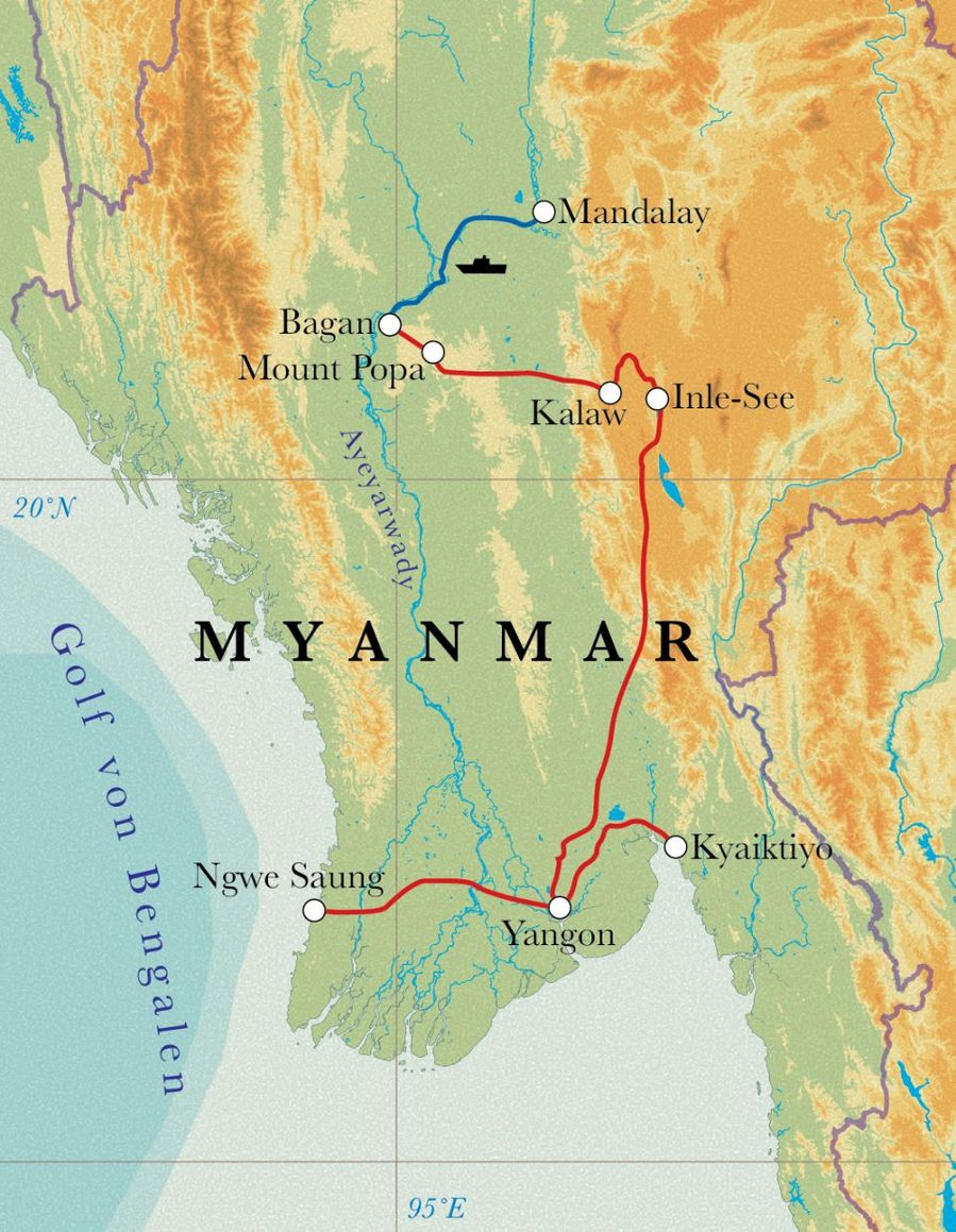 Rundreise Myanmar 17 Tage