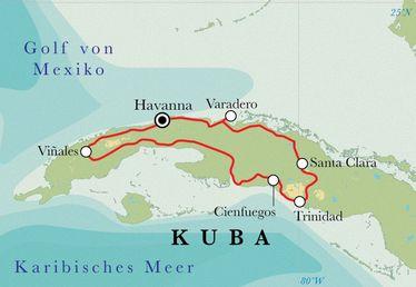 Kuba Karte Rundreise.Rundreise Kuba 14 Tage
