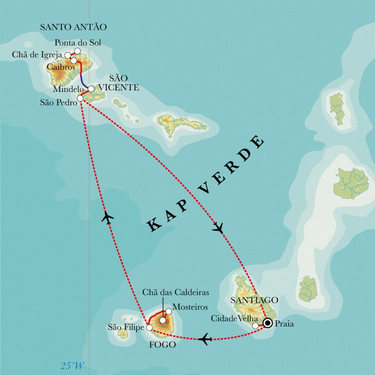 Wo Liegt Kapverden Karte.Kapverdische Inseln 13 Tage Wanderreise
