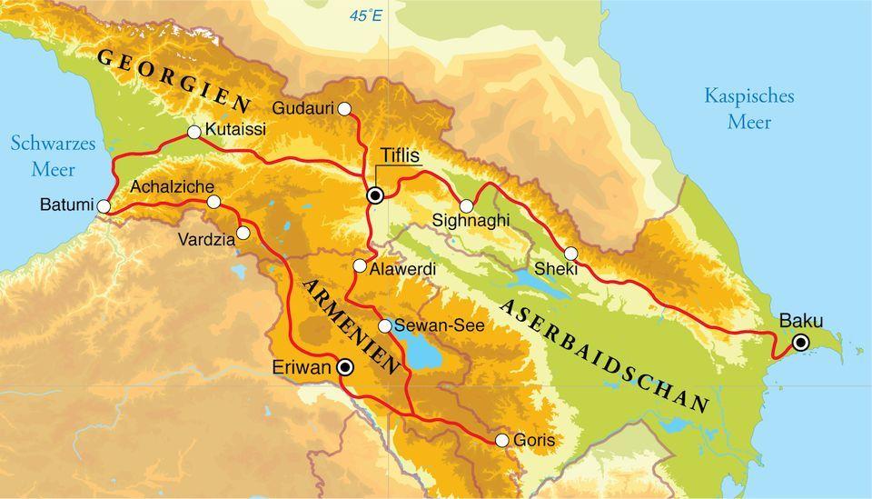 Rundreise Aserbaidschan Georgien Armenien 21 Tage Djoser Weltweite Gruppenreisen