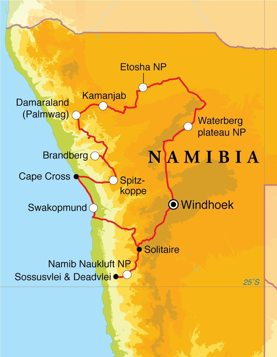 Namibia rundreise bus