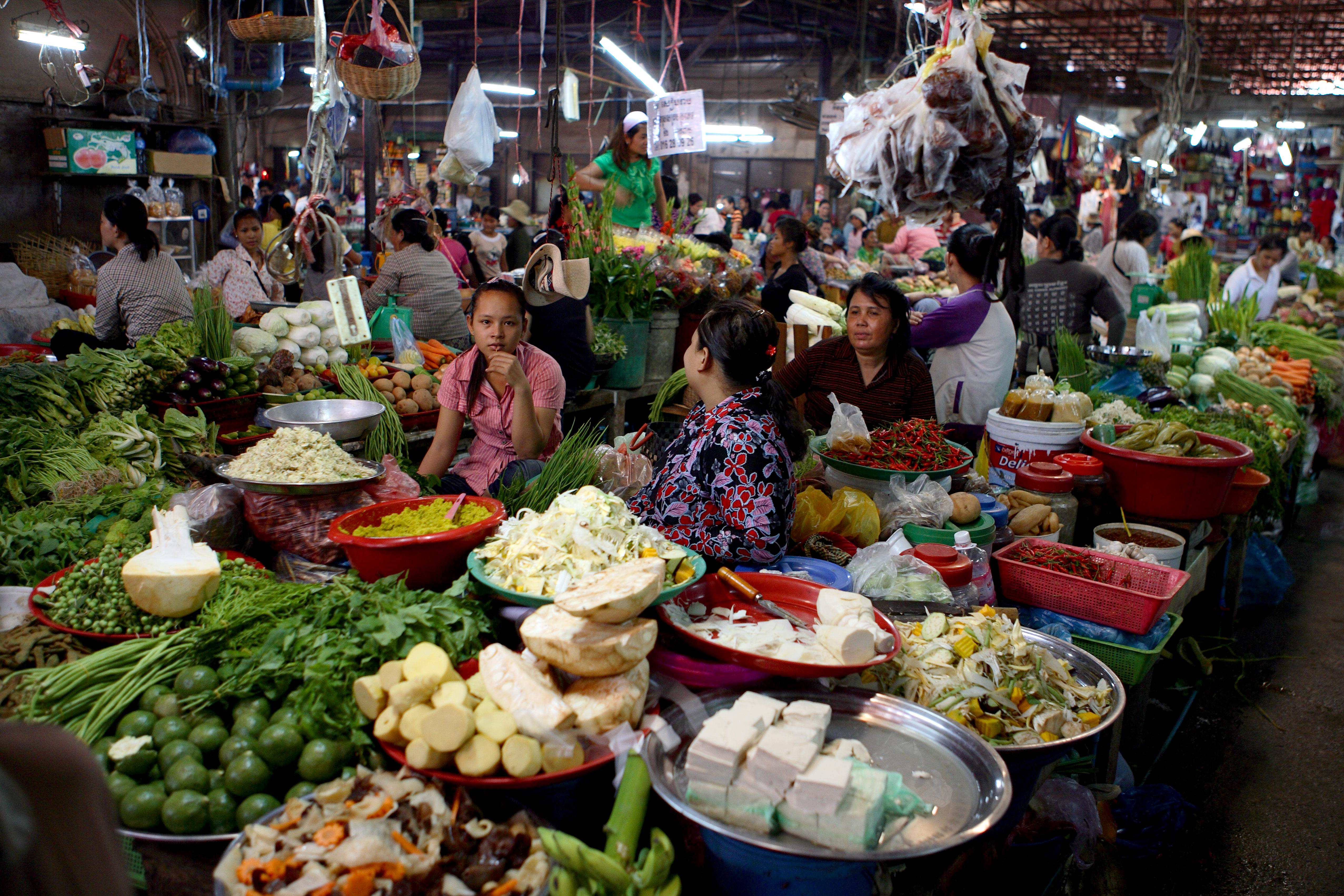 Markt in Siem Reap, Kambodscha, Djoser Reisen